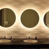 European-style bathroom toilet waterproof dressing LED mirror