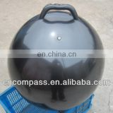 60cm black color fitness ball with handle