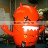 new product pvc giant funny red inflatable mascot for advertising