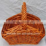 Chinese traditional willow wicker food basket
