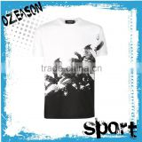 2016 summer fashion 65%cotton 35%polyester short sleeve O-neck sublimation t-shirt for men