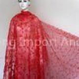 I'm very interested in the message 'Red Handcut Guipure Lace Fabric Organza For Ladies / Girls Party' on the China Supplier