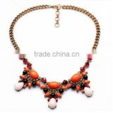 Fashion western triangle New Trendy Statement Necklaces Acrylic Bead Chokers Necklaces For Women Jewelry wedding necklace