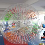 Adults or kids shinning inflatable water body zorb ball
