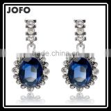 2016 Hot Sell Blue Crystal Drop Earrings For Wedding