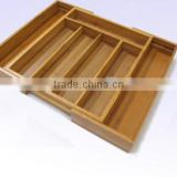 Bamboo Kitchen Cutlery Tray for wholesale