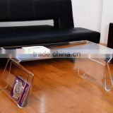 2014 New design Modern Clear Acrylic End Coffee Table Lucite Carrying Tray Side Portable