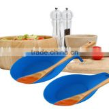 Hot Sale High quality Food Grade Colorful Kitchen Meister Silicone Spoon tray cooking utensils