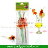 disposable decorative plastic cocktail drinking straw