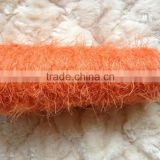 100%nylon fancy feather yarn solid dyed for scarf/sweater/knitting