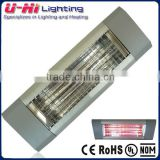 Waterproof Quartz Patio Outdoor Ceiling Infrared Electrical Wall Mounted Glass Tube Flame Patio Heater