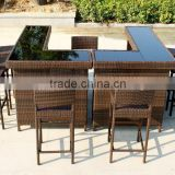 Home Bar Furniture / Outdoor Bar Table / Seaside Wicker Bar Stool                                                                         Quality Choice