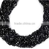 "5 Strand Finest Quality Natural Black Spinel Coin Gemstone Micro Faceted Rondelle Beads Measure 3-3.5mm - 13.5"" Long,Jew"