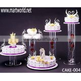 2015 latest wholesale acrylic tube cake stand for cake display for wedding cake holders (CAKE-004)                                                                         Quality Choice