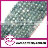 E23 semi-gemstone bead natural rough aquamarine