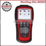 Auto scanner Autel MD802 PRO 4 in 1=MD701+MD702+MD703+MD704 autel maxidiag elite md 802 All system + DS model