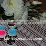 Pure/Glitter/pearl/crystal color UV gel professional salon UV gel nail use glue China factory