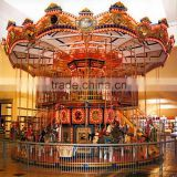 New design hot sale high quality cheapes electric amusement rides luxury double carousel