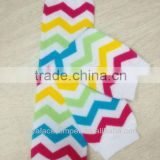 Hot!Rainbow Chevron Newest Fashion Wholesale Baby Legs Leg Warmers for Infant Toddler in Stock