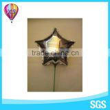 2016 helium star shape mylar foil balloon wth cup and stick for kids'gift or party decoration