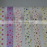 Supply 19mm two color fashion polka dot printing grosgrain ribbon for hair bows cake box wrap craft card making