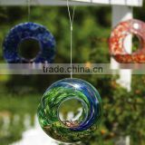 Garden Colorful Ring Shape mosaic glass humming bird feeder                                                                         Quality Choice