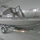 Deep-v Aluminum Boat with console and tralier