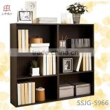 latest modern design wooden open book rack display , bookcase for home, office , school use