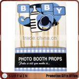 Cardboard baby shower photo booth props