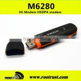 GSM 3G HSDPA 6280 WCDMA SIM USB2.0 Wireless Modem WLAN Network Card Adapter networking 3g usb dongle 3g usb modem