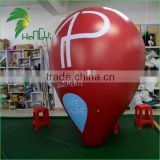 2m Diameter Advertising Inflatable Floating Human Balloon / Advertising Ground Balloon for Promotion