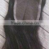 "Top quality 1# 14"" Malaysia virgin hair silk base closure,accept escrow"
