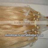 Hot sale top quality Brazilian virgin loop hair extension for salon hair stylist,accept paypal & escrow