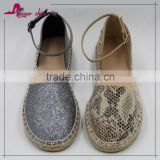 KAS16-300 2016 new design jute sole comfort espadrilles women ladies flat shoes