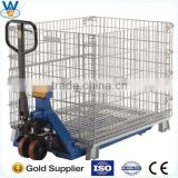 Victory Foldable storage cage/Wire Mesh Container,Suitable for warehouse, pallet rack, library