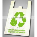 100% HDPE/LDPE Raw Material Cheap Plastic T-shirt Bag/ Vest Carrier Bag