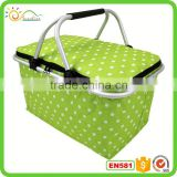 Wholesale new household products 100% polyester 600D fabric collapsible folding market tote shopping basket