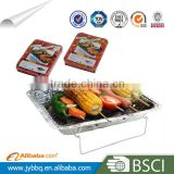 Good quality 2-3 person disposable aluminum foil barbecue tray with price