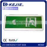 2016 KEJIE DOUBLE SIDES EMERGENCY LED EXIT SIGN WITH GLASS LEGEND WITH THE CHEAPEST PRICE