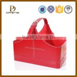 New products fashion leather empty gift basket