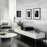 White Grey Real Looking Deep Embossed Textured 3D Brick Pattern Wallpaper Roll