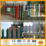 Top quality galvanized and PVC coated steel palisade fence/palisade fence