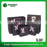 2015 New black wedding gift paper bag, birthday gift paper bag,brand paper bags pouches