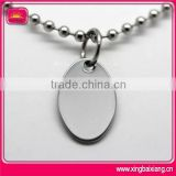 wholesale custom blank oval dog tag