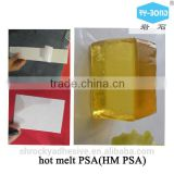 Inquiry About raw material hot melt pressure sensitive adhesive HM PSA for HDPE TPO sand waterproof material construction