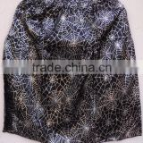 Spider printed polyester mini women dancing , party wear polyester short sexy skirts dress