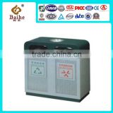 2016 Street Iron Trash Can,Recylcing Large Waste Bin,Commercial Dustbin Outdoor