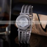 Female Clock Ladies Fashion Casual Quartz Silver Stainless Steel Rhinestone Women Dress Watches