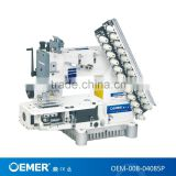 OEM-008-04085P 4 needles 1/3 inch gauge cylinder bed multi-needle double chain stitch loop industrial sewing machine