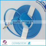 6.3 plug Aduit bi polar Reusable grounding pad cable